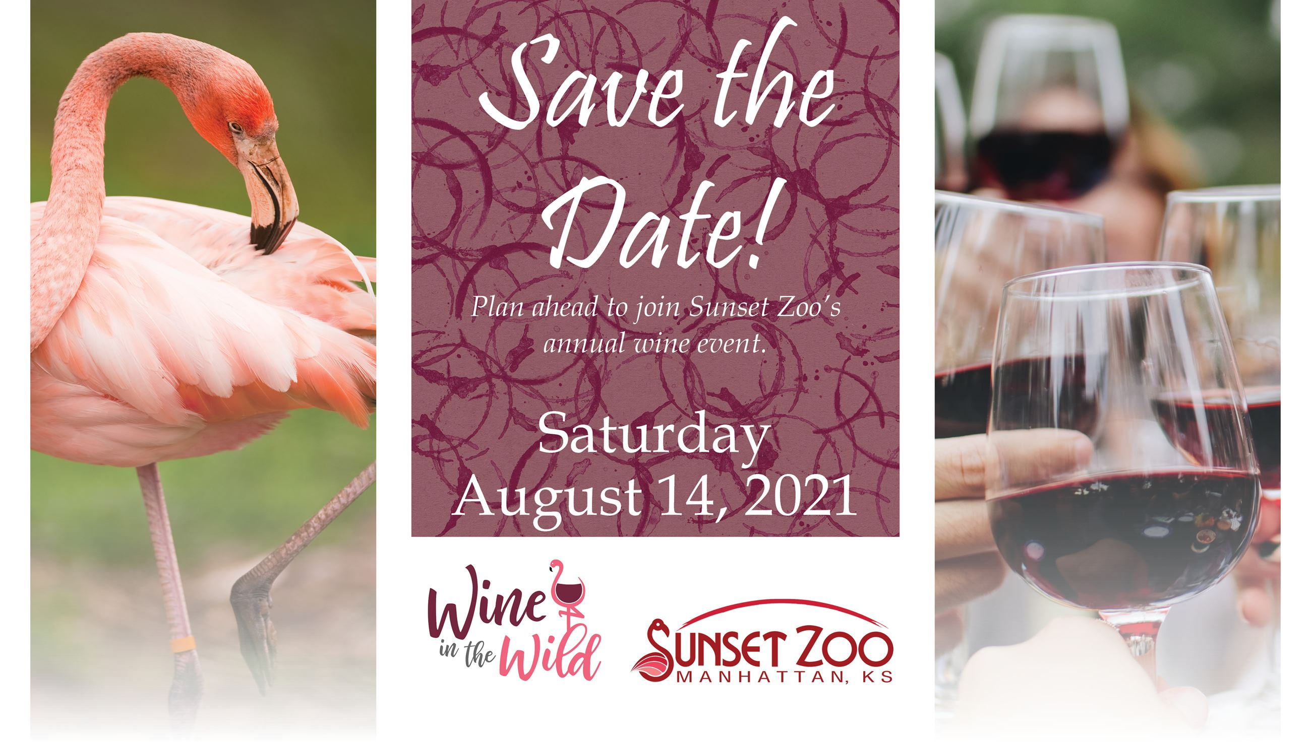 Wine in the Wild 2021 Save the Date.